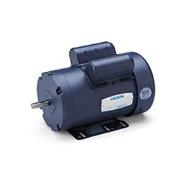 Leeson Motors-1/2HP, 115/208-230V, 3450RPM, TEFC, Rigid Mount, 1.15 SF, 66 Eff.