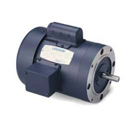 Leeson Motors Single Phase General Purpose Motor 1/2HP, 1725RPM, 56, TEFC, 115/208-230V, 60HZ, Manu