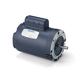 Leeson Motors Single Phase General Purpose Motor 1/2HP, 1725RPM, 48, TEFC, 115/208-230V, 60HZ, Auto