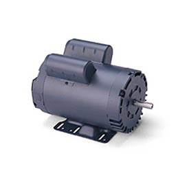 Leeson Motors-1HP, 115/208-230V, 1725RPM, DP, Rigid Mount, 1.15 SF, 75 Eff.