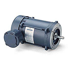 Leeson Motors Single Phase Explosion Proof Motor 1/3HP, 1725RPM, 56, Epnv, 60HZ, Automatic, 1.0SF