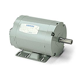 Leeson Motors - 1HP, 208-230/460V, 3450RPM, TENV, Rigid Mount, 1.0 S.F.