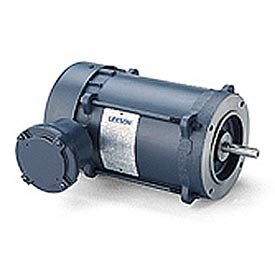 Leeson Motors - 1.5/1HP, 208-230/460V, 3450/2850RPM, EPFC, Round Mount