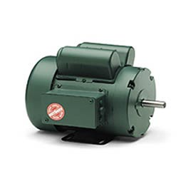 Leeson Motors-3/4HP, 115/208-230V, 1725RPM, TEFC, Rigid Mount, 1.15 SF, 82 Eff.