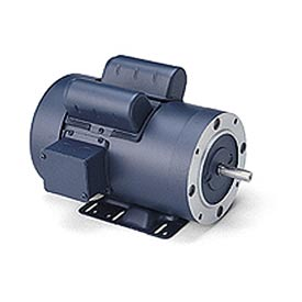 Leeson Motors - 1.5HP, 115/208-230V, 1725RPM, TEFC, Rigid C Mount, 1.15 S.F.