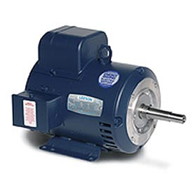 Leeson Motors Motor Pump Motor - 1HP, 115/208-230V, 1740RPM, DP, Rigid C Mount, 1.15 S.F.
