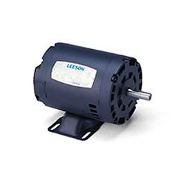 Leeson 121514.00, Premium Eff., 1.5 HP, 3490 RPM, 208-230/460V, 143T, DP, Rigid