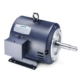 Leeson Motors - 1//1HP, 208-230/460V, 1730//1430RPM, DP, Rigid Mount, 1.15 S.F.