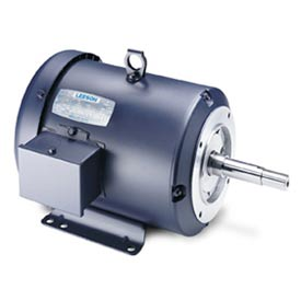 Leeson Motors - 3//2HP, 208-230/460V, 3480//2910RPM, TEFC, Rigid Mount, 1.15 S.F.