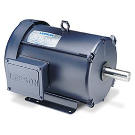 Leeson Motors Motor Electric Motors-2/1HP, 208-230V, 1740/860RPM, TEFC, Rigid Mount, 1.0 S.F.