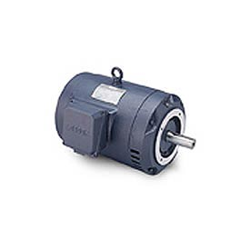 Leeson G131490.00, High Eff., 5 HP, 1740 RPM, 208-230/460V, 184TC, DP, C-Face Footless