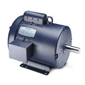 Leeson Motors-1.5HP, 115/208-230V, 1140RPM, TEFC, Rigid Mount, 1.0 SF, 67 Eff.