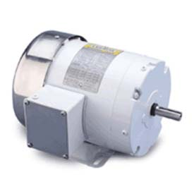 Leeson Motors 3-Phase Washguard Duty Motor 5HP, 3510RPM, 184, TEFC, 60HZ, 1.15SF, Rigid