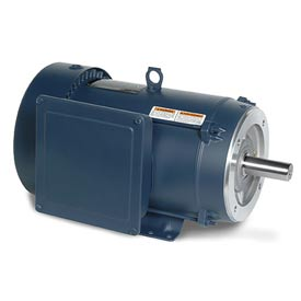 Leeson Motors - 10HP, 230V, 1740RPM, TEFC, Rigid C Mount, 1.15 S.F.