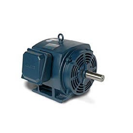Leeson 170034.60, Premium Eff., 25 HP, 3545 RPM, 208-230/460V, 256T, DP, Rigid