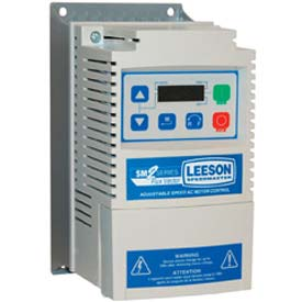 Leeson Motors AC Controls Vector Series Drive VFD,NEMA 1,3PH,1/2HP,120/240