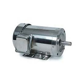 Leeson Motors 3-Phase Washguard Duty Motor 2/1.5HP, 1740/1440RPM, 56H, TEFC, 208 230/460V, 60/50HZ