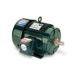 Leeson Motors 3-Phase Severe Duty Motor 7.5HP, 3540RPM, 213, TENV, 60HZ, Cont, 40C, 1.15SF, Rigid