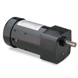 Leeson Motors AC Integral GearMotor PE350, 15:1, 113/94RPM, 68lb.in, 16HP, P42Y, 115/230V, 1PH