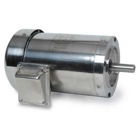 Leeson Motors 3-Phase Washguard Duty Motor 2HP, 3600RPM, 145TC, TEFC, 230/460V, 60HZ, Washdown