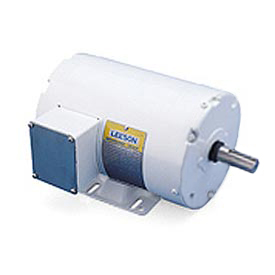 Leeson Motors Motor Washdown Motor-7.5HP, 208-230/460V, 3505RPM, TEFC, RIGID, 1.15 SF, 88.5 Eff.