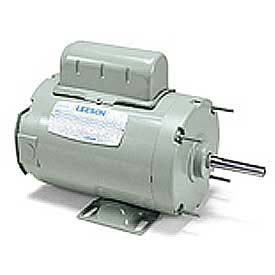 Leeson Motors Single Phase Farm Ag Motor 1/4HP, 1075RPM, 48Y, TENV, 115/230V, 60HZ, Airover, Auto