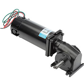 Electric gear motors dc right angle motors leeson for Right angle dc motor
