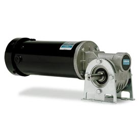 Leeson Motors Gearmotor-Right-Angle Shaft, 250RPM, 1/4HP, TEFC, 90V, DC