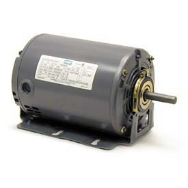 Leeson Motors M900277.00, Single Phase  Motor .33/, 11HP, 1725/1140RPM.56, Dp, 60HZ, Cont, Auto