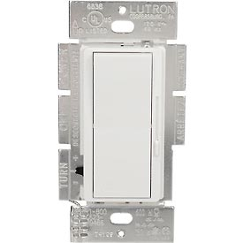 Lutron Diva® Dimmer, Single Pole, 120V, 150W Or 600W, 3-Way, White