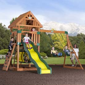 Backyard Odyssey™ Compass Cedar All Cedar Outdoor Swingset