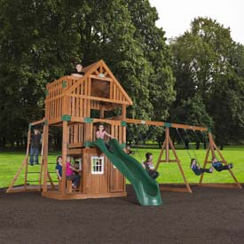 Backyard Odyssey™ Wanderer Cedar All Cedar Outdoor Swingset