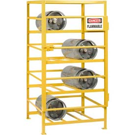 "Little Giant® Horizontal, 12 Cylinder, Industrial Gas Cylinder Cage, 48""W x 36""D x 70""H"