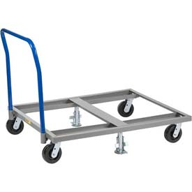 Little Giant® Pallet Dolly with Handle & Floor Lock PDH-4848-6PH2FL, 48 x 48 3600 Lb. Cap.