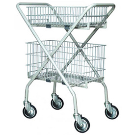 Graham-Field 7010A Versacart Folding Utility Cart without Baskets, Gray by