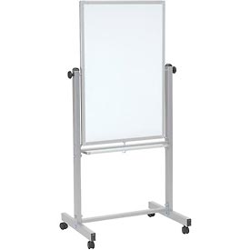 "Luxor® Mobile Double Sided Magnetic Whiteboard, 24""W x 36""H"