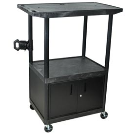 A/V Cart w/ Cabinet & Wide Top - 32x24x54-1/4