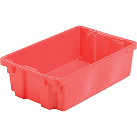 "LEWISBins SN2414-8 Polyethylene Container 24""L x 14""W x 8""H, Red - Pkg Qty 5"