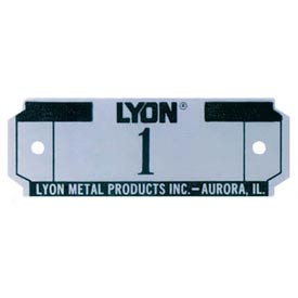 Lyon Number Plate For All Lockers And Baskets NF5829 - (Specify# on Order)