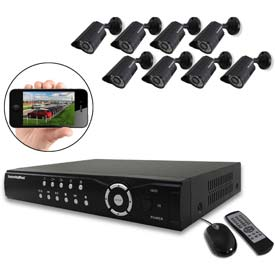 1TB Network DVR System with 8 Indoor/Outdoor Night Vision Color Cameras NDVR8-1TBK by