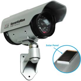 Solar Outdoor/Indoor Dummy Camera with LED by