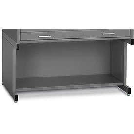 "Mayline® C-Files 20"" High Base w/ Bookshelf for Steel File Cabinet for 24"" x 36"" Sheets Gray"