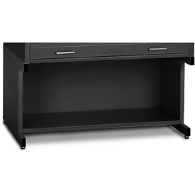 "Mayline® C-Files 20"" High Base w/ Bookshelf for Steel File Cabinet for 24"" x 36"" Sheets Black"