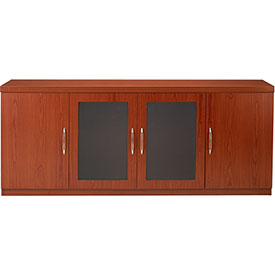 Mayline Aberdeen Series Low Wall Credenza Cherry by