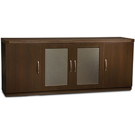 Mayline Aberdeen Series Low Wall Credenza Mocha by