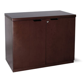"Mayline Mira Series Hinged Door Credenza with 36"" Espresso by"