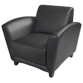 Mayline Santa Cruz Lounge Series Black Leather Chair by