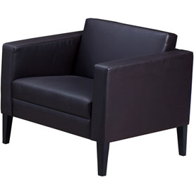 Mayline Prestige Lounge Series Black Leather Chair by