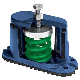 "Housed Spring Floor Mount Vibration Isolator 5-3/4""L x 2-1/8""W Green by"