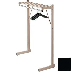 "48""W Freestanding Coat Rack, Black"